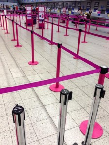 WizzAir barriers at Luton, before the chaos