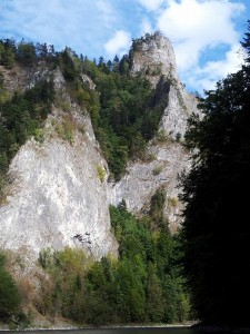 In the gorge of the Dunajec river