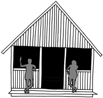 Sauna hut at Körvemaa
